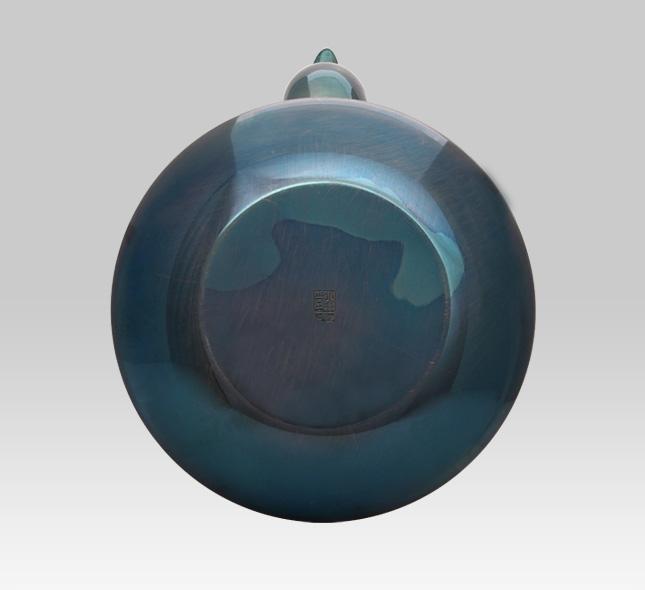 银壶 1100cc瓢型牡丹图案