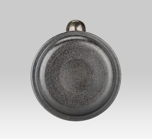 银壶 釜型龟壳图案草席印纹4.5寸