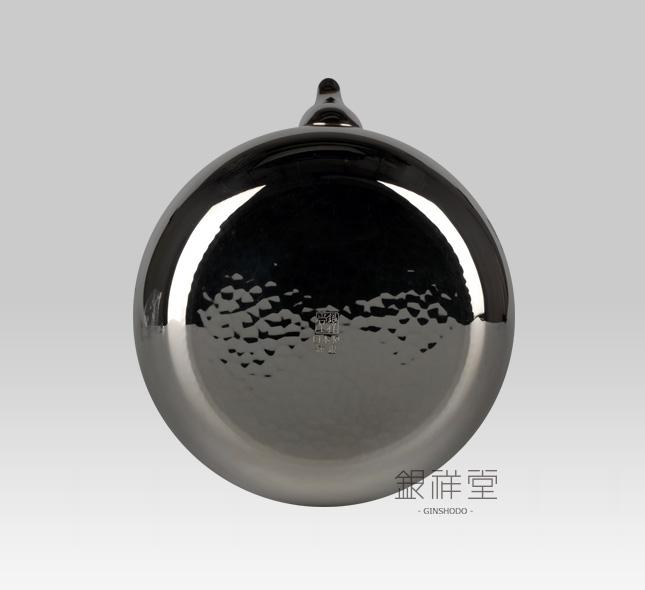 银壶 600cc桃形亮银葡萄雕金