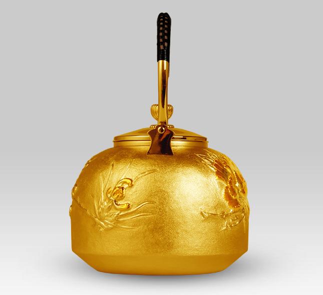 金壶 牡丹图案