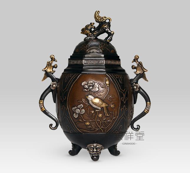 銅香炉 薫香(彩色)