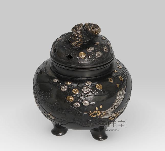 銅香炉 四季