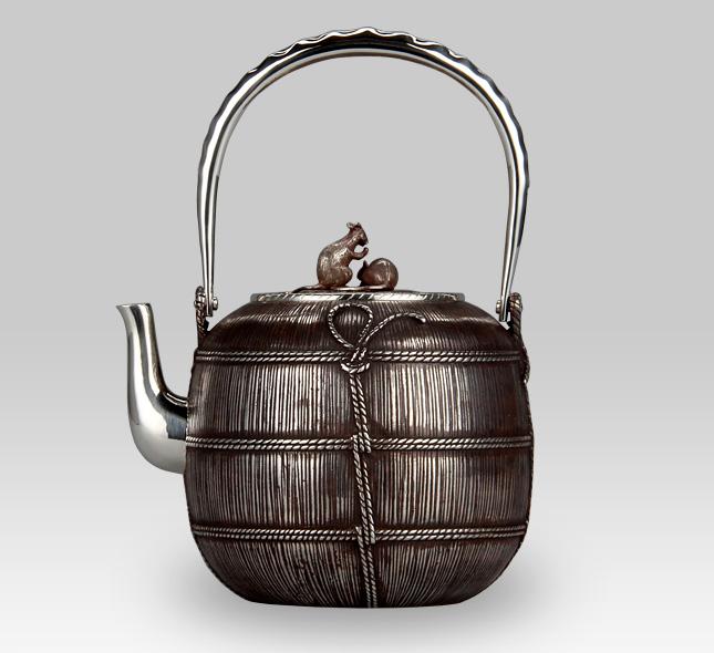 銀瓶 俵に鼠湯沸し