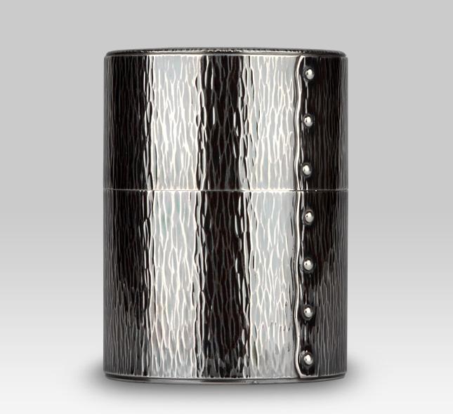 銀茶器 銀茶筒