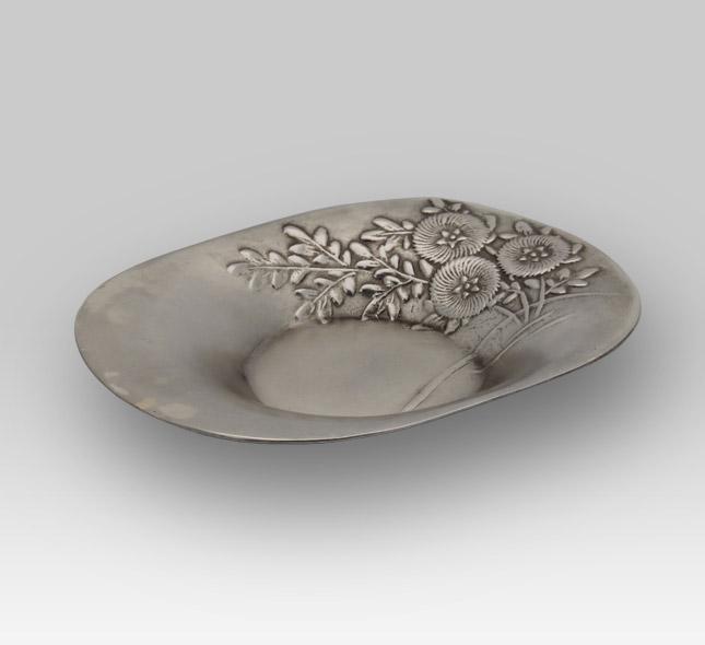 銀茶器 菊(5枚セット)