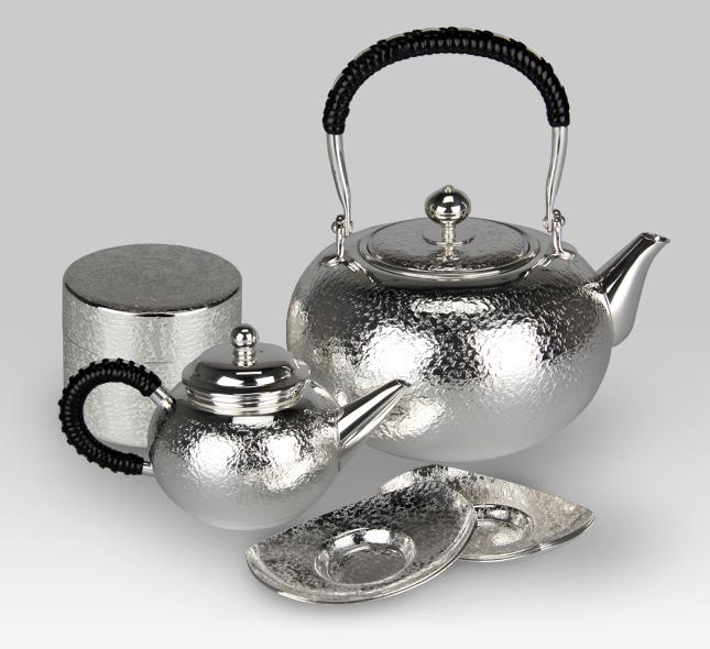 銀茶器セット 荒目